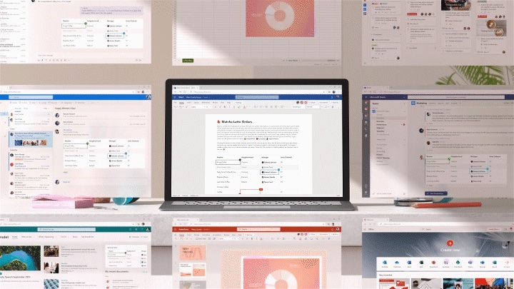 Volledige integratie met Outlook afgebeeld op een computer