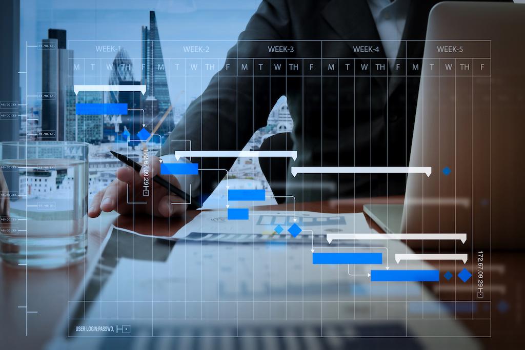 Gebruiker van onze oplossing aan het werk met de geoptimaliseerde planningsmodule